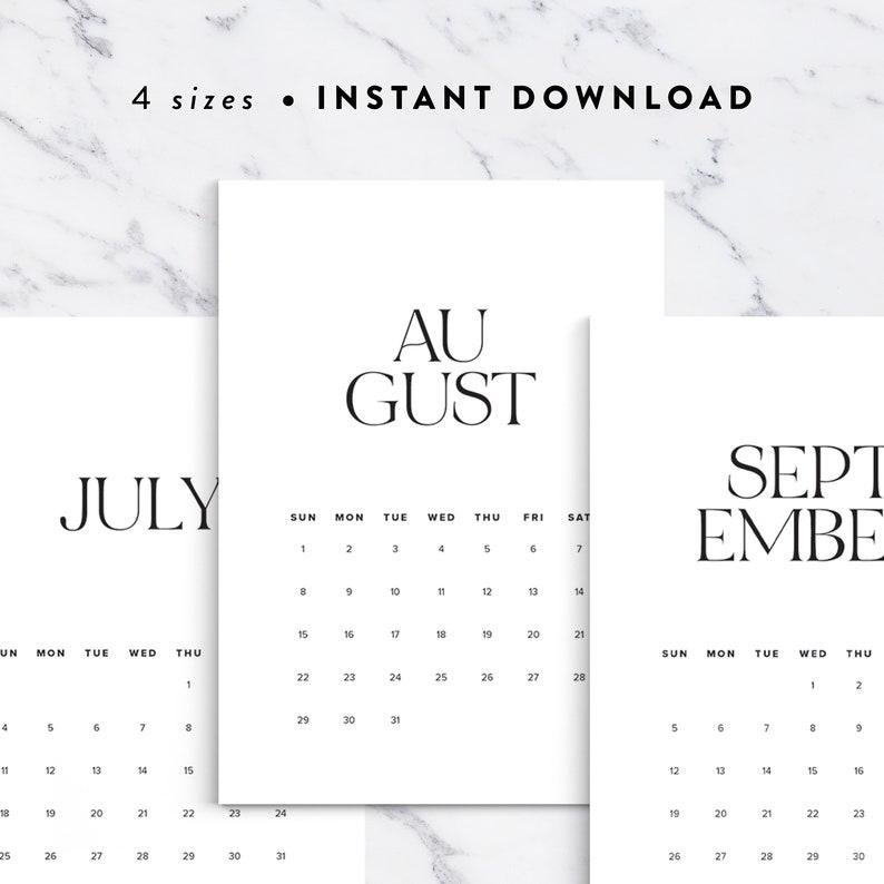 Classy Calendar 2021 Printable Planner Elegant Calendar   Etsy