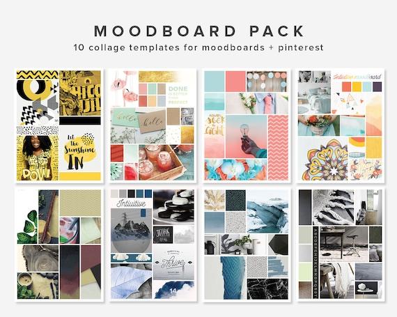 10 moodboard templates photoshop templates blogging etsy