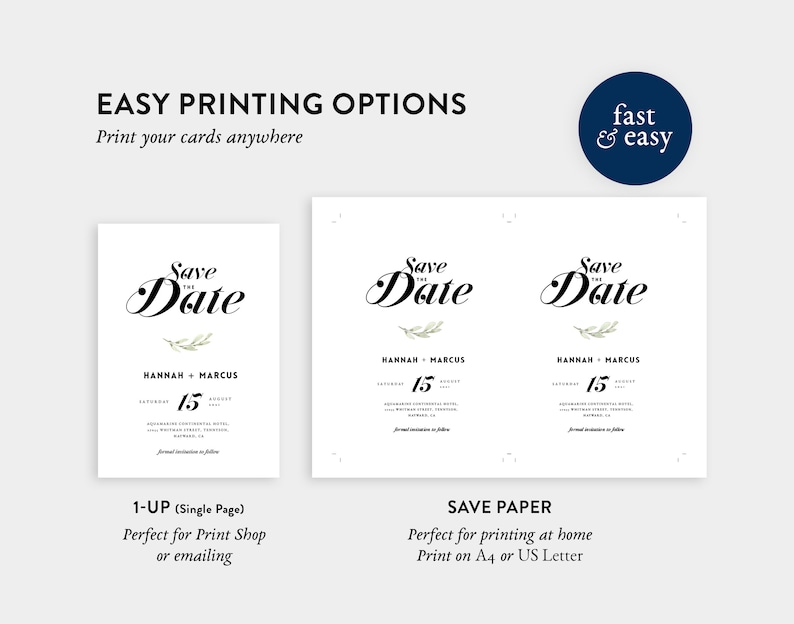 Editable Calligraphy Save the date Template \u2022 100/% Editable and easy to use \u2022 Wedding Announcement Template \u2022 Templett Save the Date