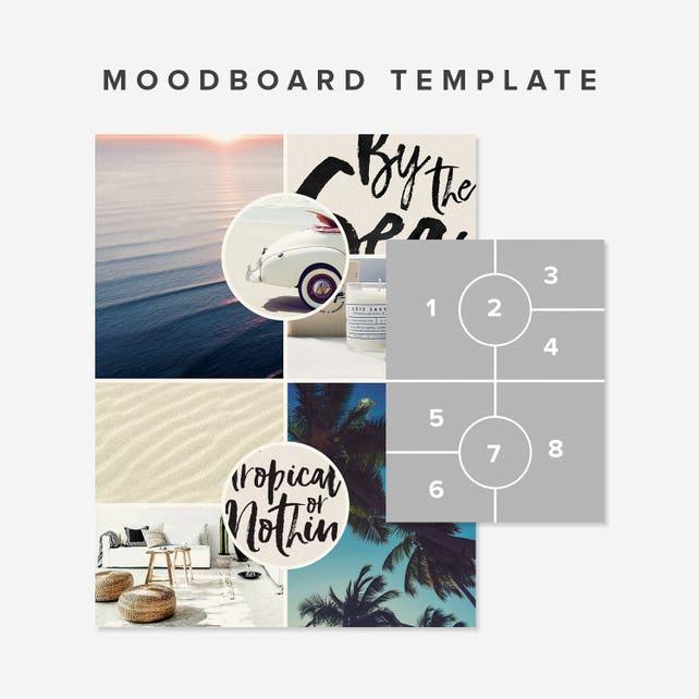 Moodboard Vorlage Photoshop-Collage Vorlage | Etsy
