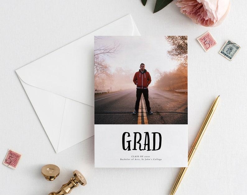 Graduation Party Invitation Printable \u2022 5x7 \u2022 Calligraphy \u2022 Editable \u2022 Graduation Invitation Template \u2022 Graduation Gift for him \u2022 Templett