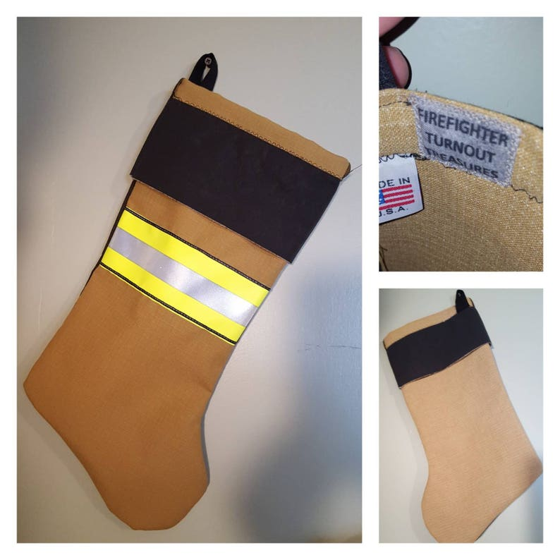 Handmade Firefighter Turnout Treasures Christmas Stocking. image 0