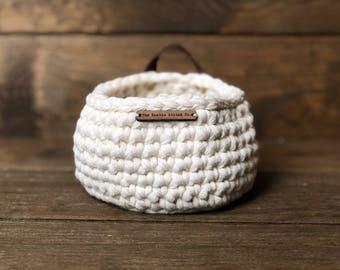Small Crochet Basket • storage basket • crochet bowl • storage bowl