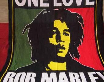 Hippie Bob Marley Tapestry Twin Size Wall Hanging Bohemian Bedspread Cotton Tapestries Hippie Dorm Decor Handmade Mandala Tapestries