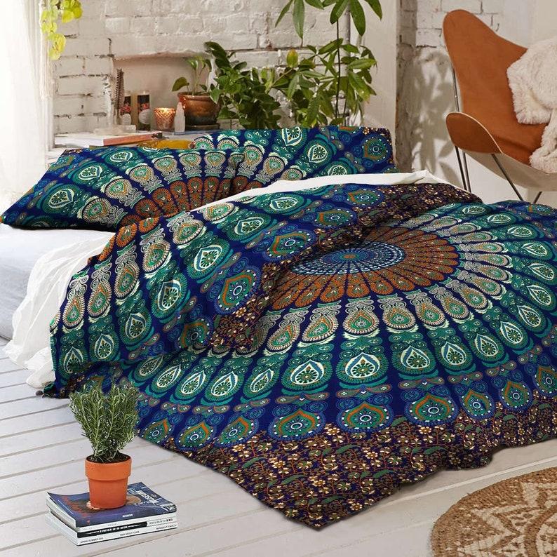 Mandala Duvet Cover Queen Twin Size Doona Quilt Cover Cotton Etsy