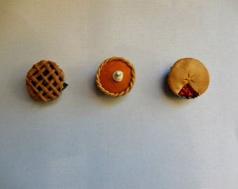 Polymer Clay Bottle Cap Pie Magnets