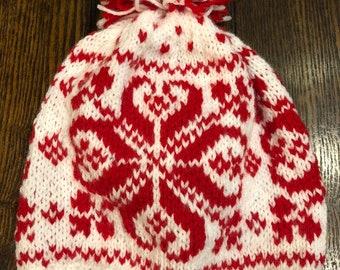 6b5a867ce4e Handmade Norwegian Nordic Ski Hat. Wool
