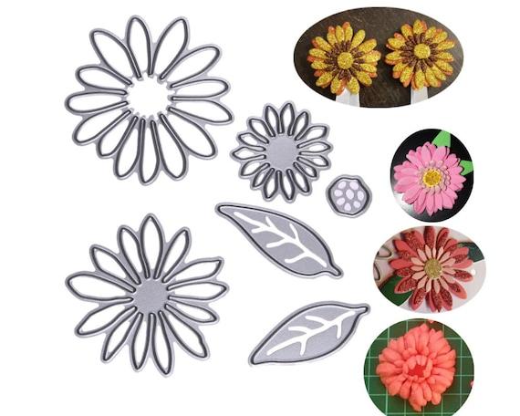 Daisy Cutting Die Metal cutting dies Flower template Card | Etsy
