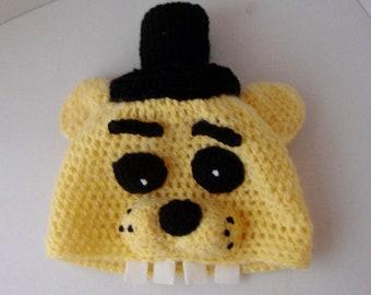 a02a81b8777 Golden Freddy of Five Nights at Freddy s FNAF Crochet handmade hat Freddy  beanie crochet fazbear Fazbear Adult size Fancy Dress Cosplay