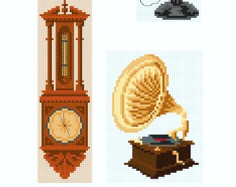 Cross stitch designs for when you need a small card or gift for a man in your life.