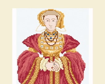 Cross stitch design 'Anne of Cleves'