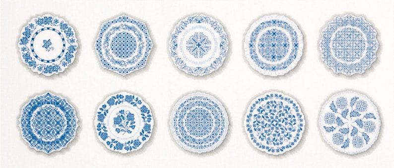 Blackwork Design 'Porcelain Plates' image 0