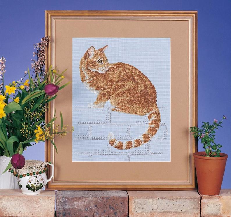 Cross Stitch Design Ginger Cat 'Nine Lives' image 0