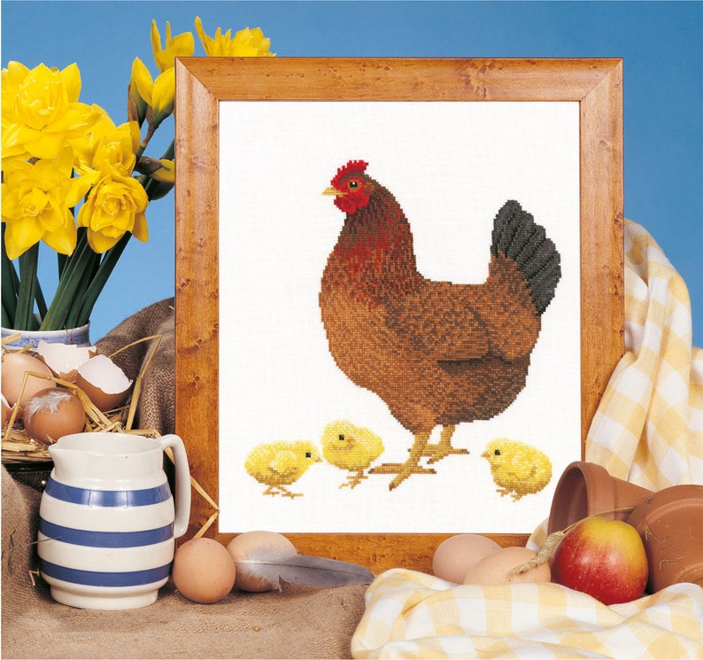 Cross stitch download 'Mother Hen and Chicks' image 0