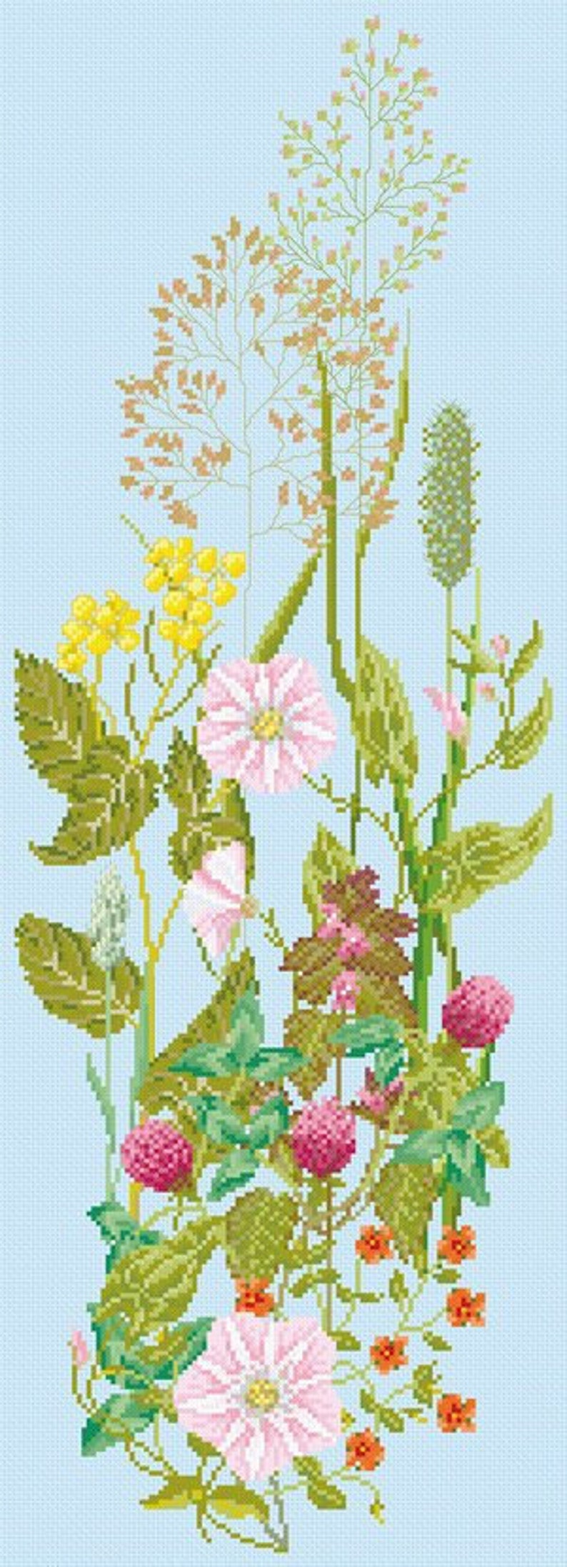 Cross Stitch Download 'Flowers From a Summer Meadow' image 0