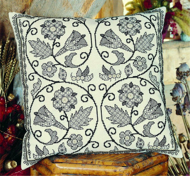 Blackwork Design Download 'Elizabethan Revival' image 0