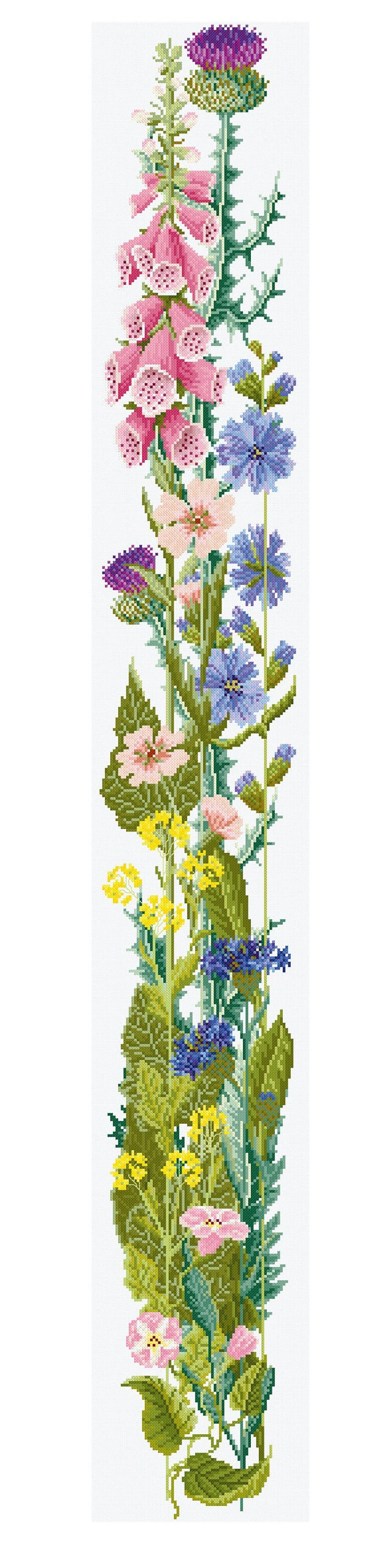 Cross stitch 'Height of Summer' bell pull design image 0