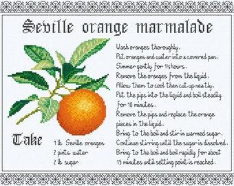 Cross Stitch Design 'Seville Orange Marmalade'.