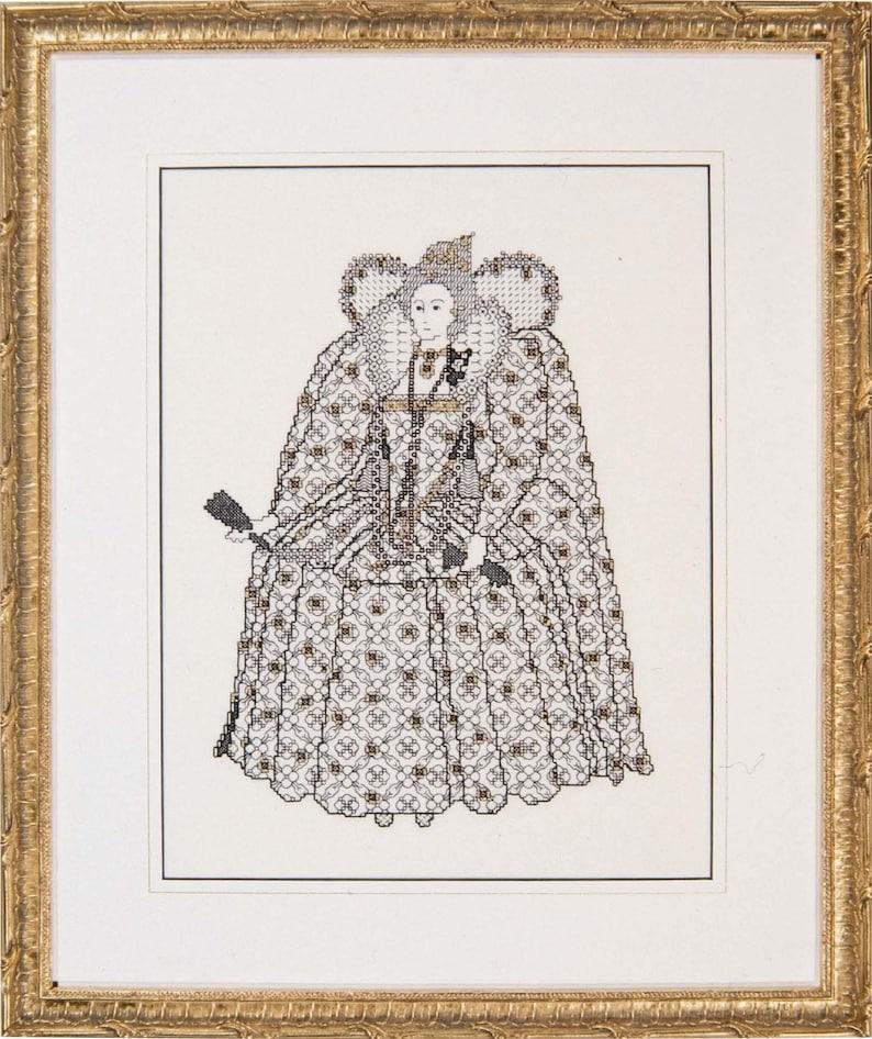 Blackwork Design 'Elizabeth I'. image 0