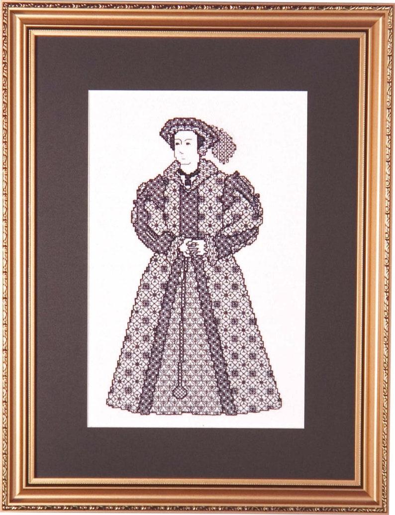 Blackwork Design 'Katharine Parr' image 0