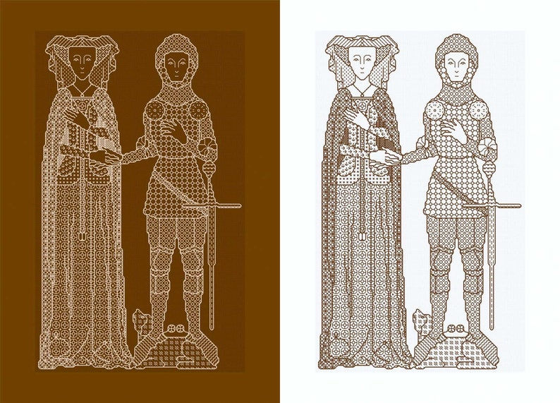 Blackwork Design 'A Knight and His Lady' image 0