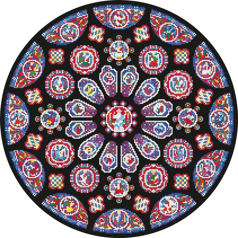 Cross Stitch Download 'Gothic Rose Window' image 0