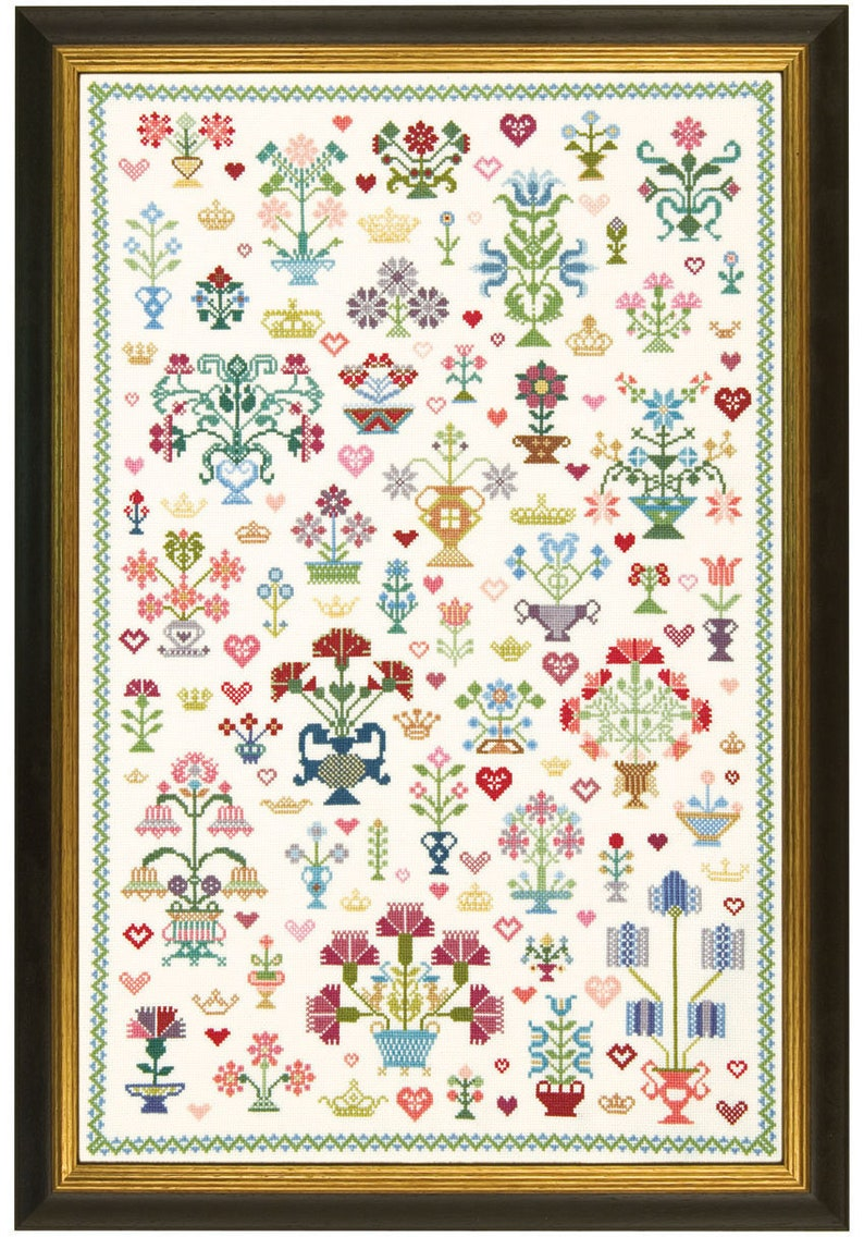 Cross Stitch Sampler 'Historic Wedding'. image 0