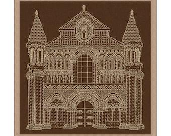 Blackwork 'Notre Dame La Grande, Poitiers' Blackwork Cathedral