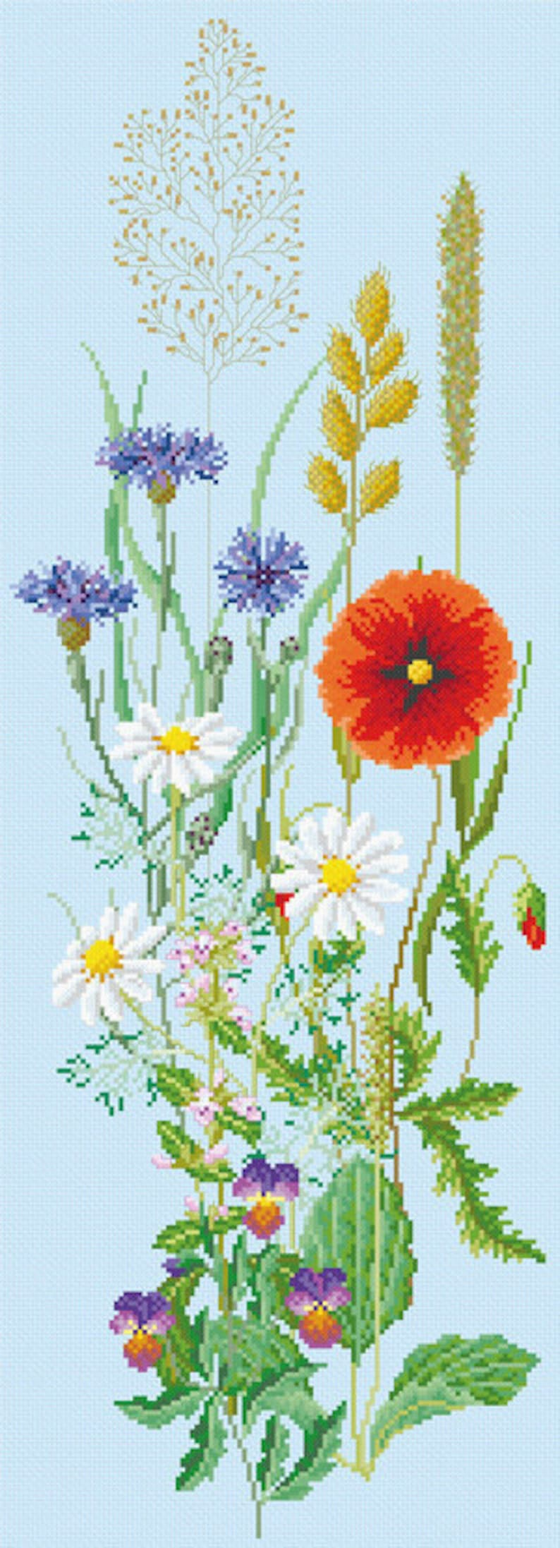 Cross Stitch Picture Pattern Download 'Flowers From a image 0