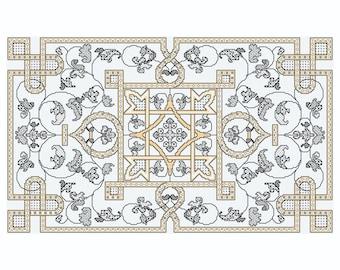 Blackwork design 'Traditional Mat'
