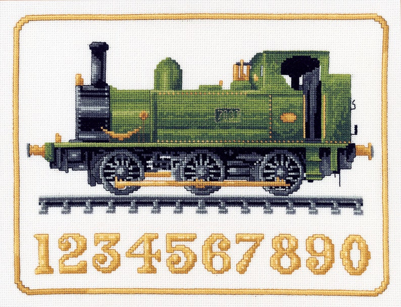 Cross stitch design 'Engine numbers' image 0
