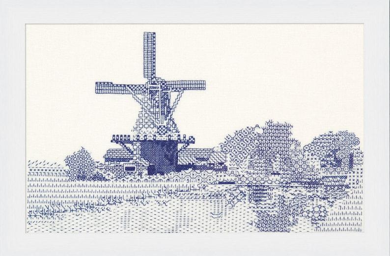 Blackwork design 'Windmill View' image 0