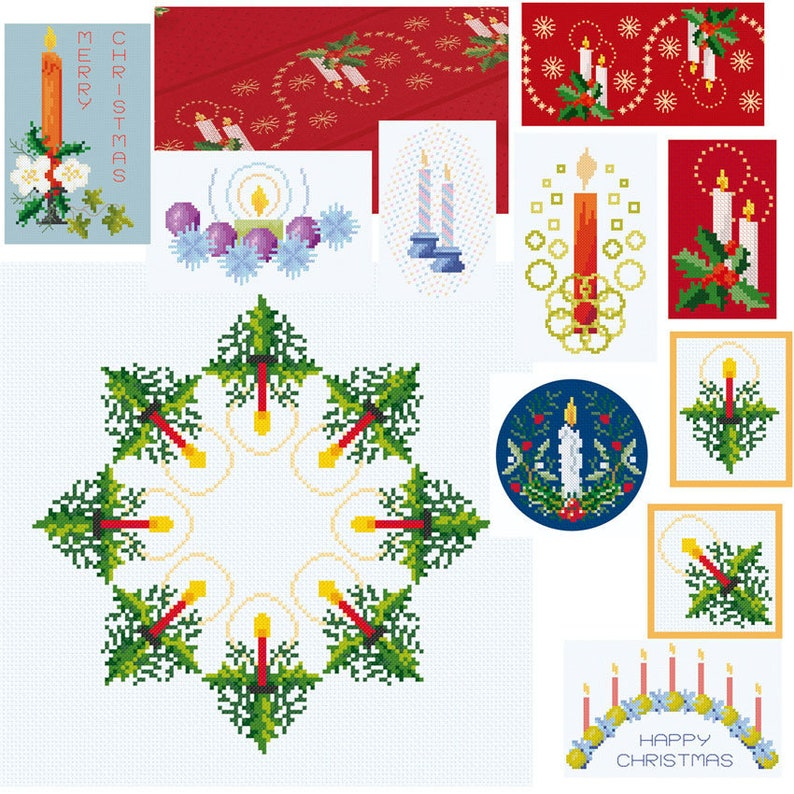 Cross Stitch 'Christmas Candle Collection 2' image 0
