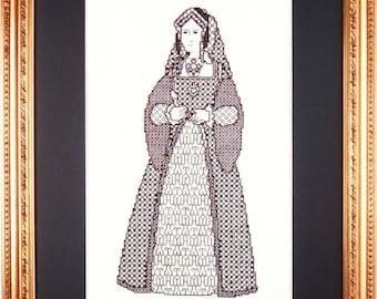 Blackwork Design 'Catherine of Aragon'