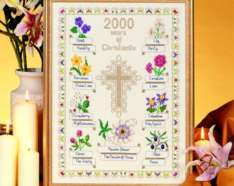 Cross Stitch Design '2000 Years of Christianity'