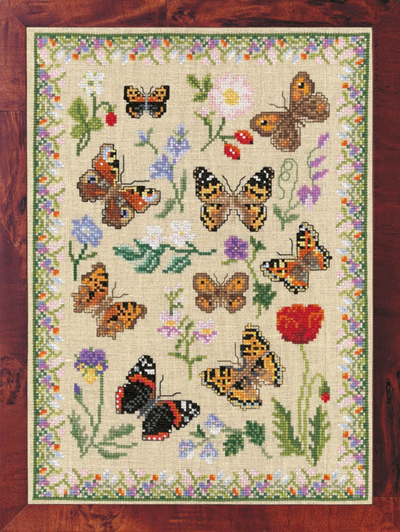 Cross Stitch 'Beautiful Brown Butterflies' image 0