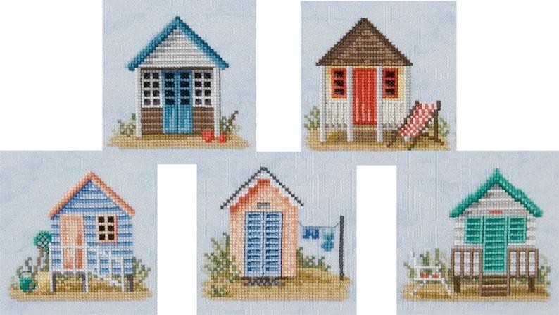 Cross Stitch 'Seaside Living'  beach huts image 0