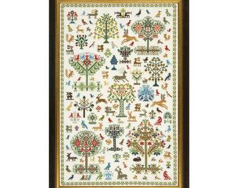Cross Stitch Design 'Historic Forest'.