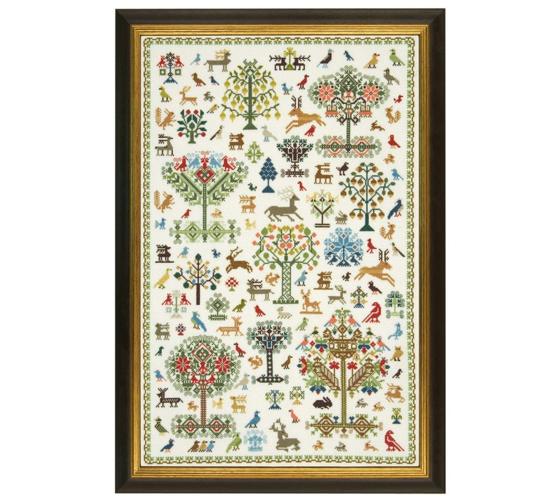 Cross Stitch Design 'Historic Forest'. image 0