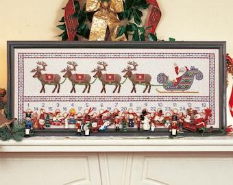 Cross Stitch Advent Calendar 'Santa's Sleigh'