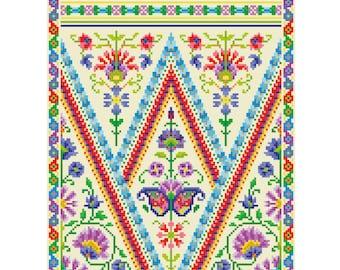 Cross Stitch design 'Indian Inspiration'.