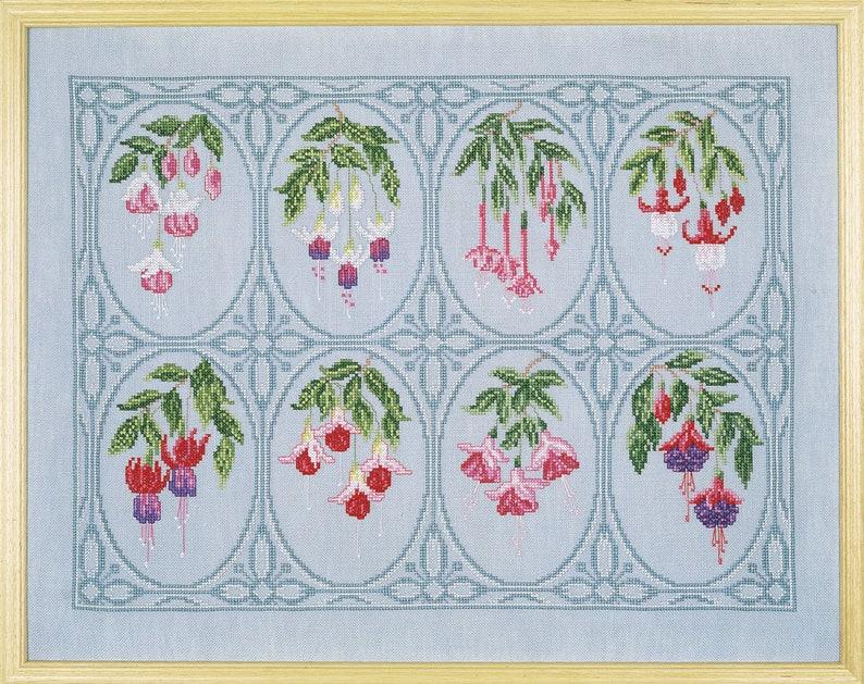 Cross Stitch 'Flourish of Fuchsias' image 0