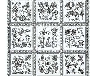 Blackwork design 'Elizabethan Blackwork'