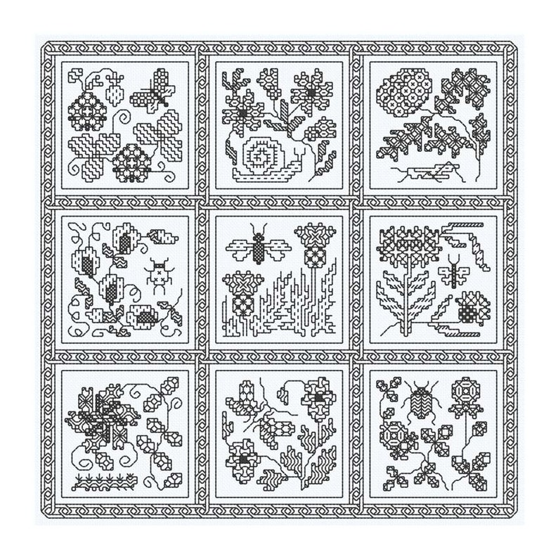Blackwork design 'Elizabethan Blackwork' image 0