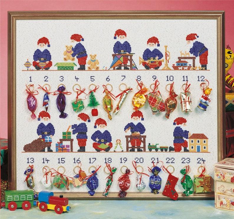 Christmas Cross Stitch Advent Calendar 'Santa's image 0