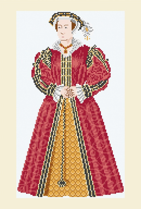 Queen Catherine Parr Cross Stitch Needlework Pattern Chart wife King Henry VIII