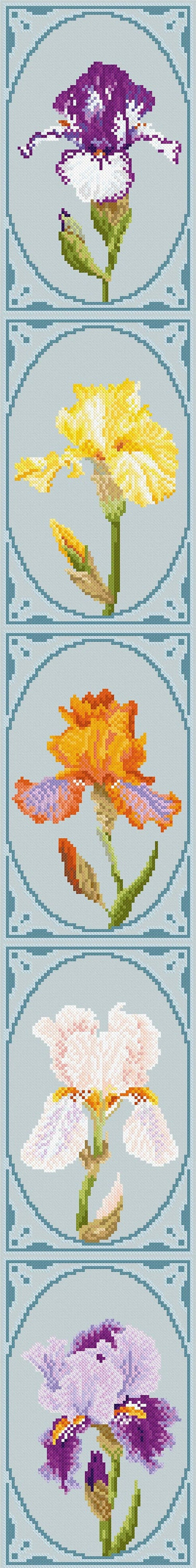 Cross stitch design 'Majestic Irises' image 0