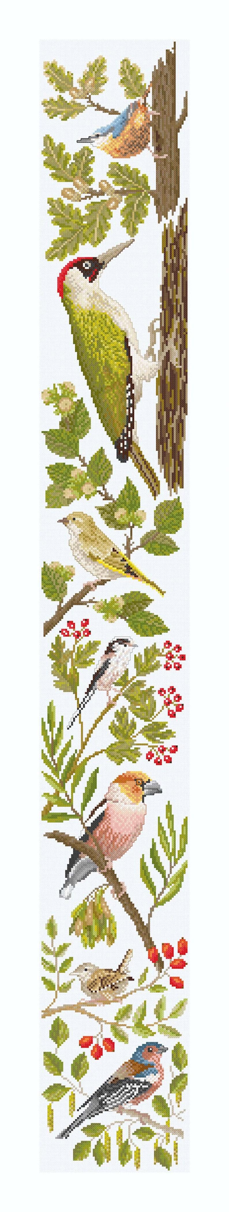 Cross Stitch 'Birds in Autumn' image 0