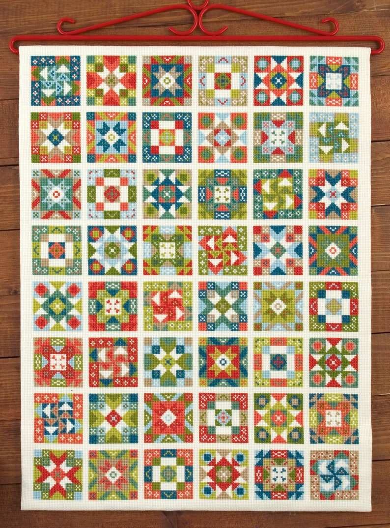 Cross stitch design 'Patchwork Paradise' image 0