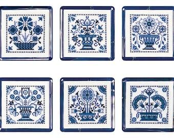 Cross stitch Delft Tiles